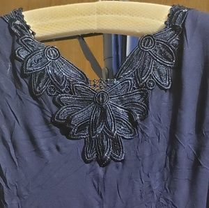 Style & Co Tops - 1X Navy and Paisley Tank